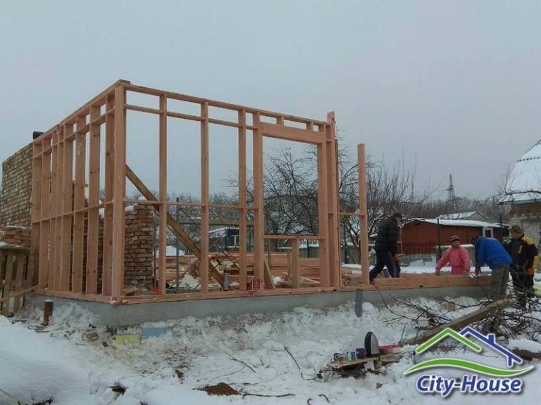 Начинаем монтаж каркасного дома в Черкасской области