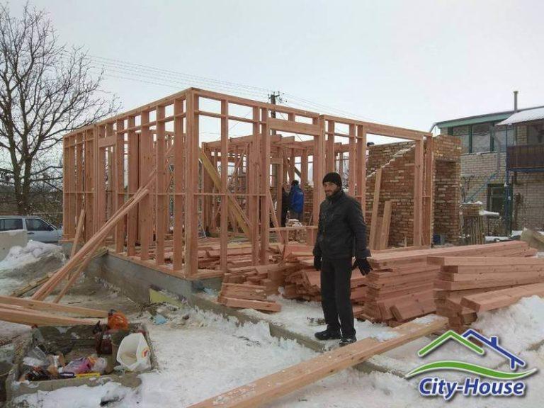 Комплект каркасного дома изготовлен по проекту на производстве