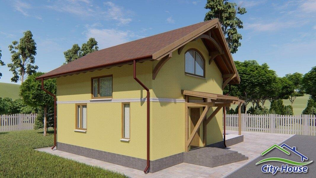 Архитектурная визуализация каркасного дома