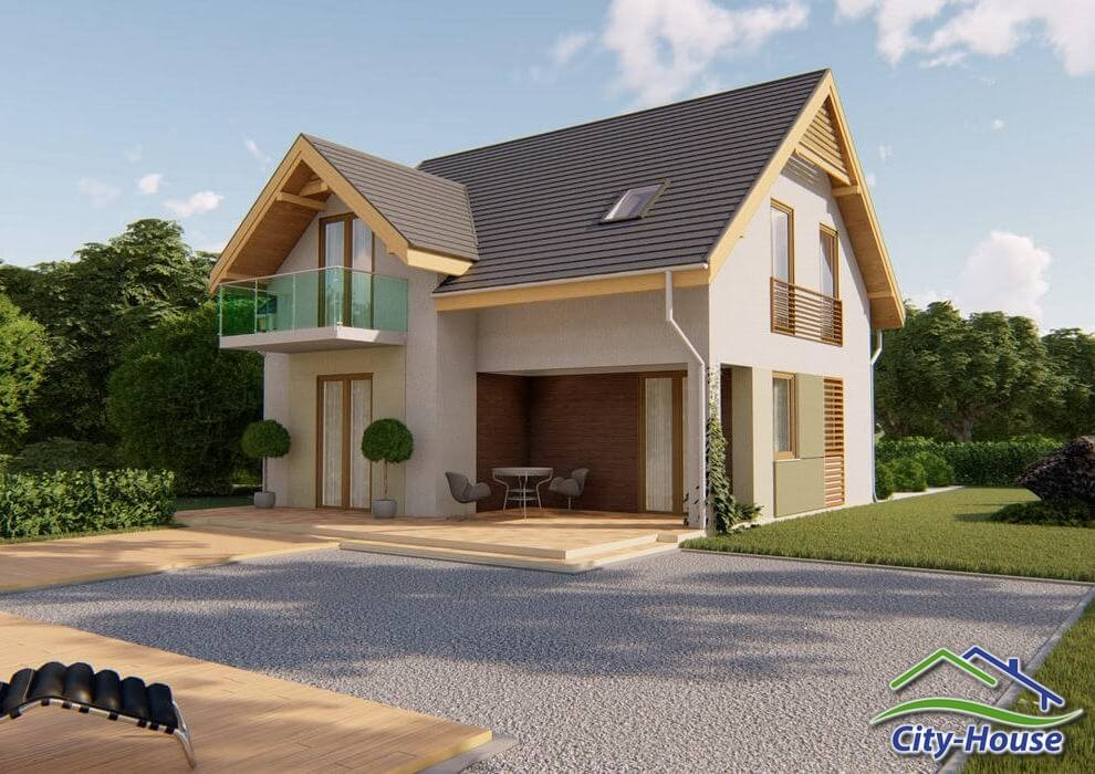 Проект каркасного дома из СИП панелей C1507 Киев