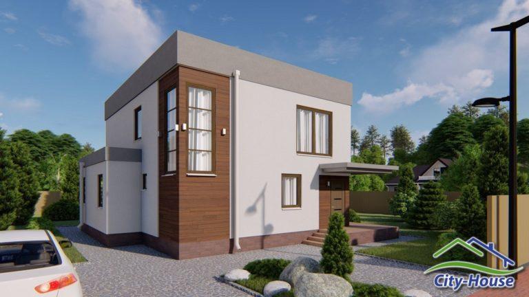 Архитектурная визуализация дома из сэндвич панелей