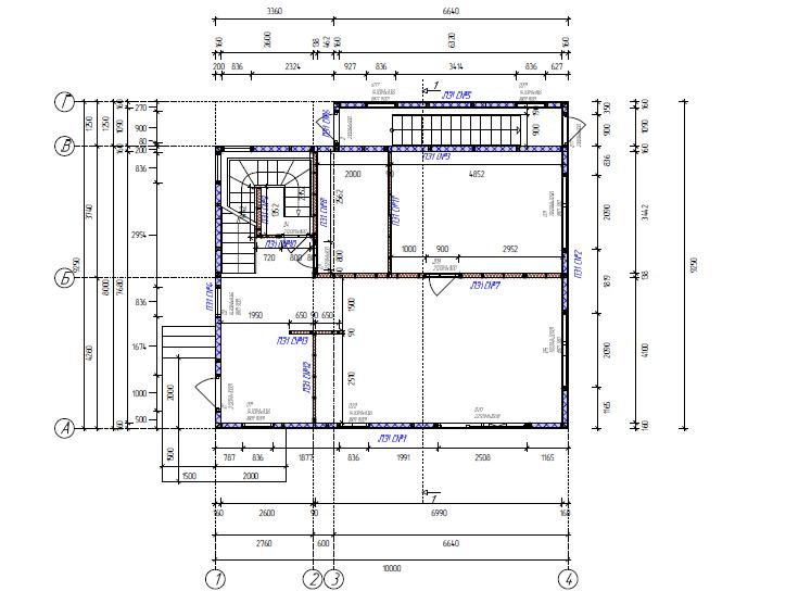 План дома из сэндвич панелей