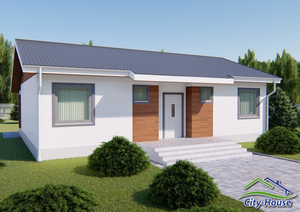 Проект небольшого одноэтажного дома C1742 Мурованые Куриловцы