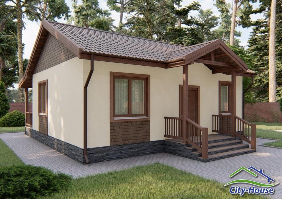 Красивый одноэтажный дом с террасой C1914 Луцк
