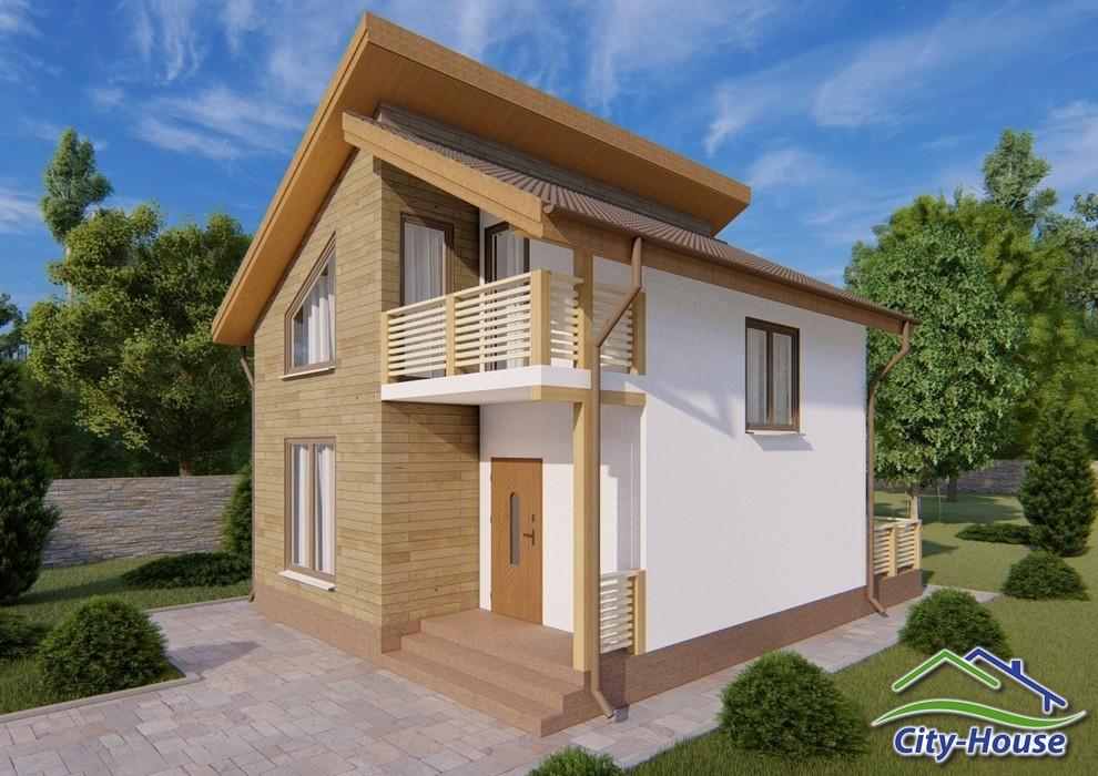 Проект двухэтажного дома с террасой и балконом C1920 Дубно