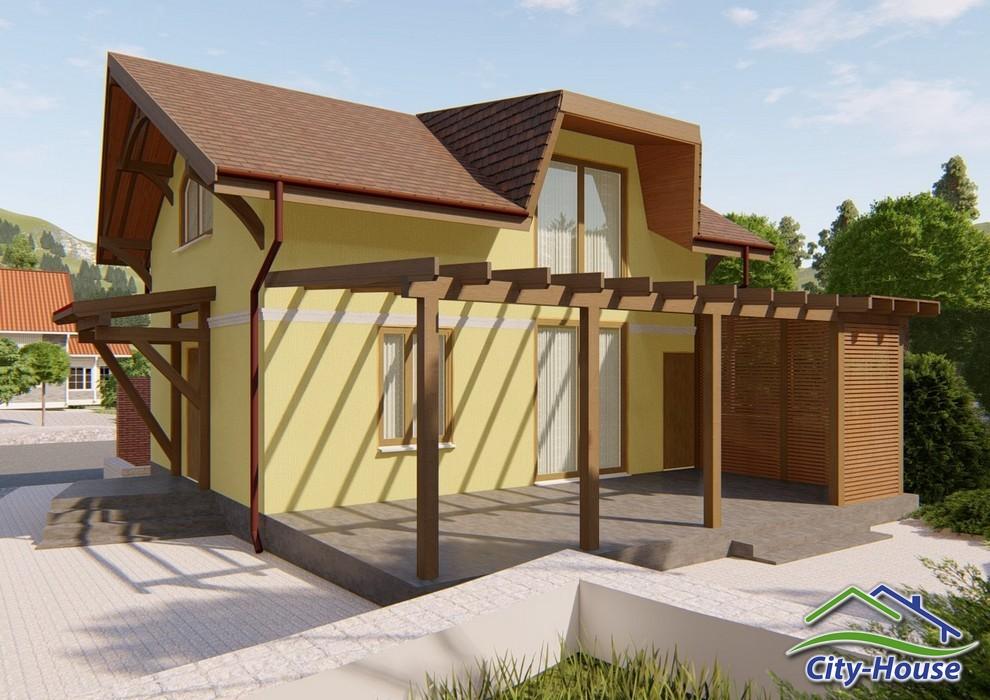 Проект двухэтажного дома со вторым светом C1822 Яремче