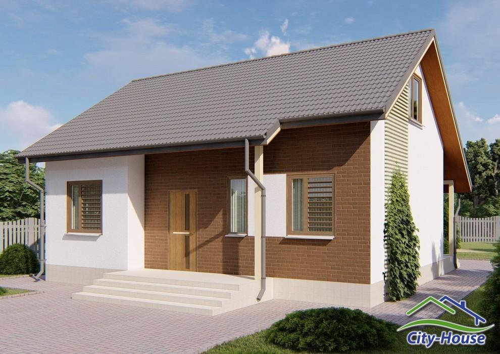 Проект одноэтажного дома с эксплуатируемым чердаком C1825 Коломыя