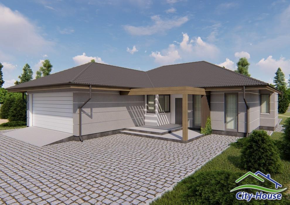 Проект одноэтажного дома с гаражом C1824 Ровно