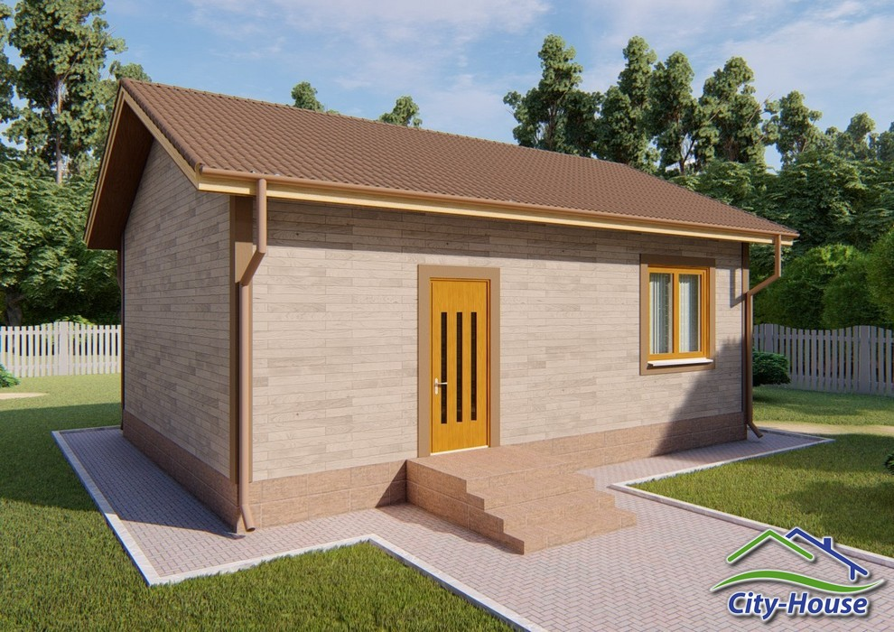 Проект одноэтажного маленького домика C1820 Миргород