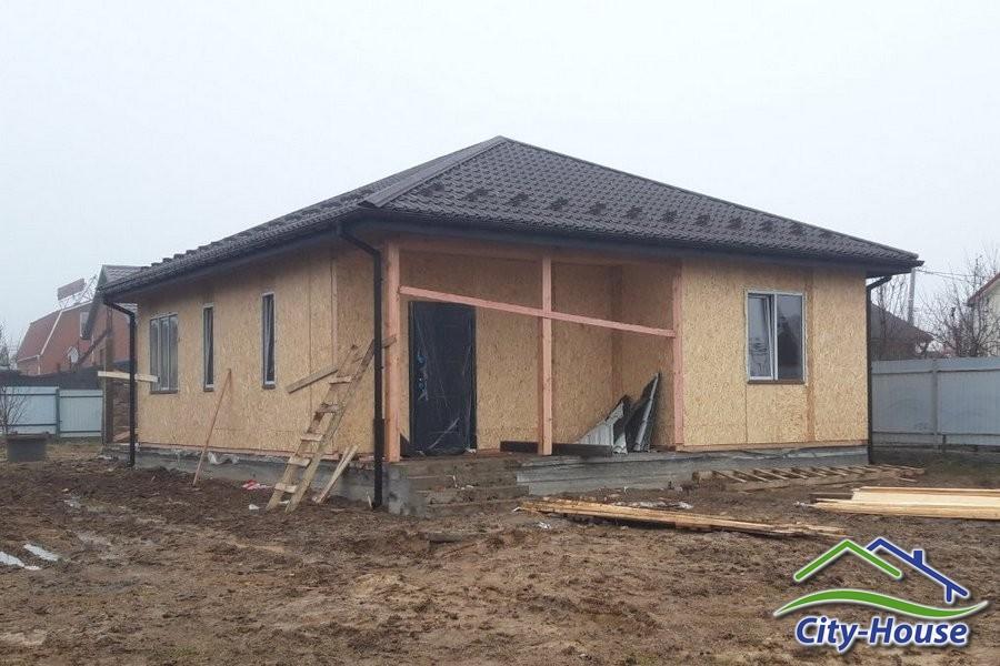 Строительство дома из СИП панелей зимой в Виннице