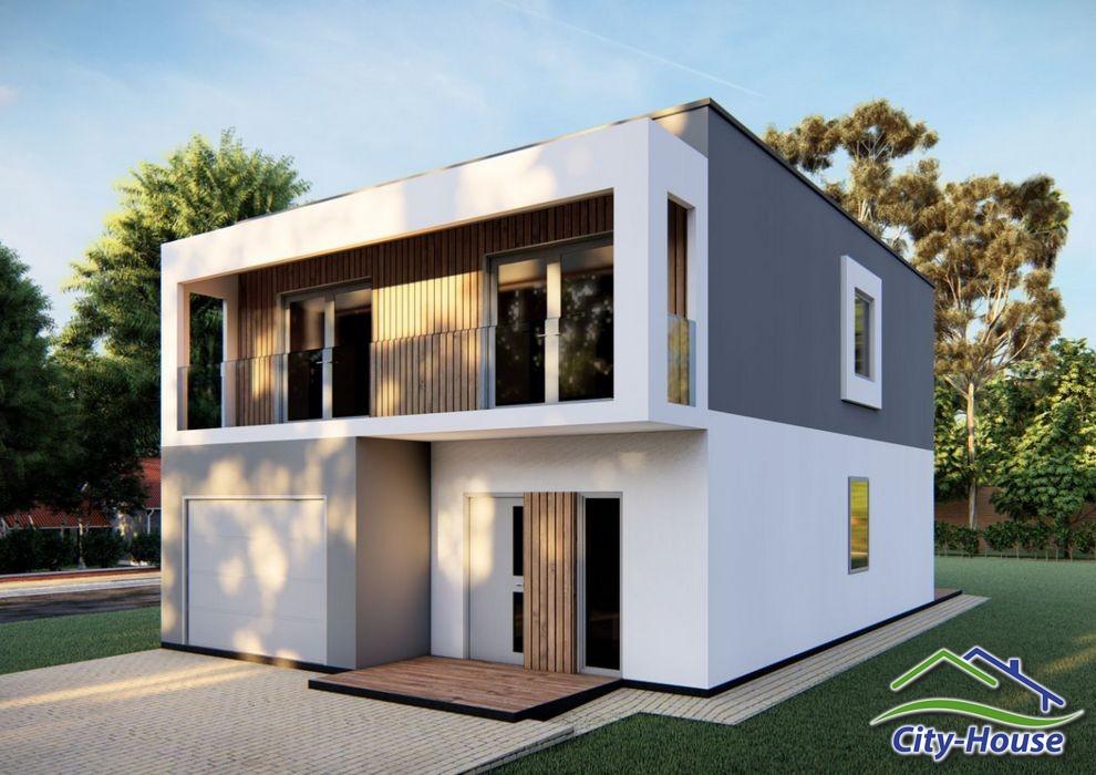 Проект двухэтажного дома с гаражом C2011 Десна