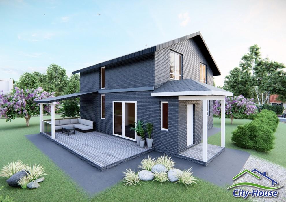 Проект двухэтажного загородного дома C2014 Буша