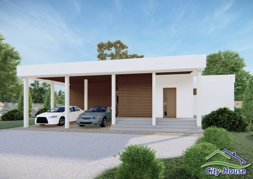 Проект одноэтажного дома с террасой C2101 Переяслав