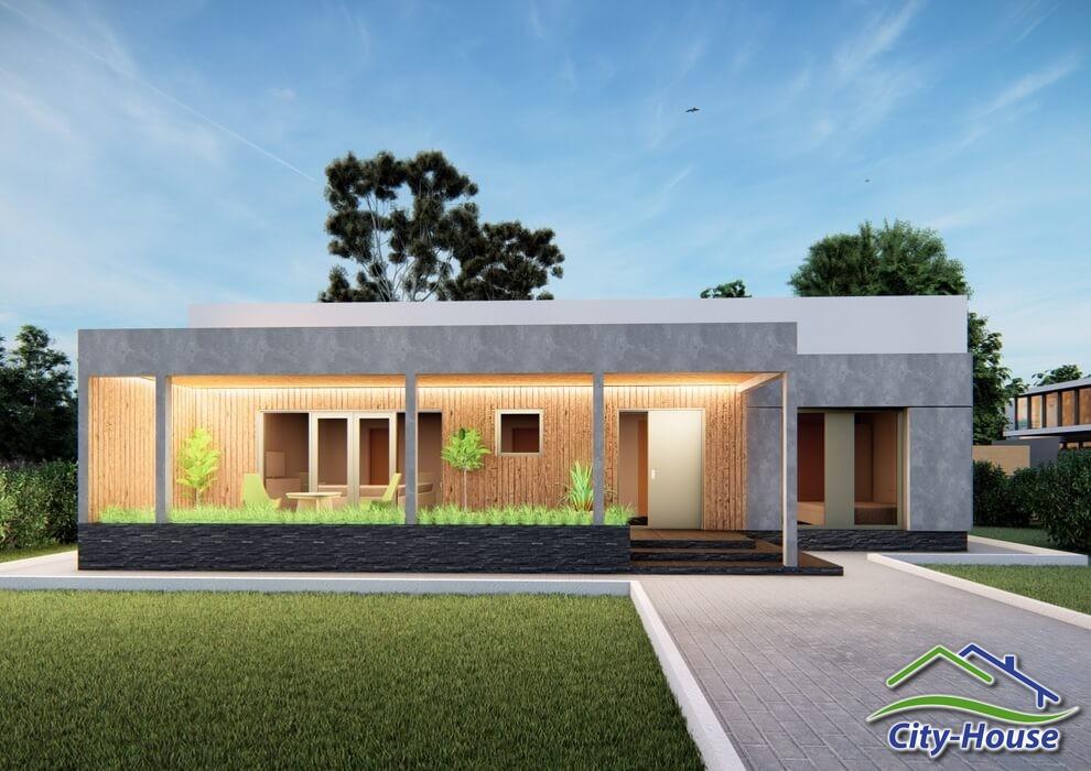 Проект современного одноэтажного дома C2103 Березань