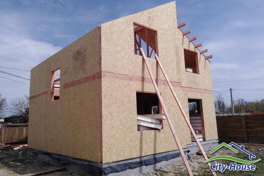 Собираем двухэтажный дом из SIP панелей в Виннице